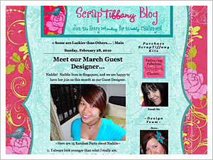 Guest Designer at ScrapTiffany!