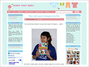 Guest Designer at Scrap that Baby!
